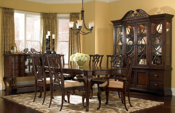 Cincinnati painting for Pictures of dining room tables decorated